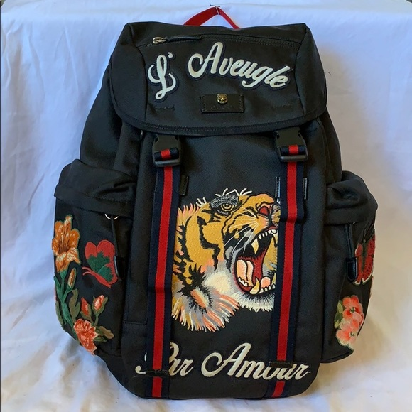 0edd86f399ef Gucci Bags   Backpack With Embroidery   Poshmark